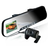 "iParaAiluRy® 2.7"" TFT HD Dual Lens Rearview Mirror Car Camera DVR"