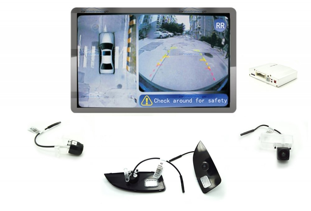 iParaAiluRy® 360 Around View Parking Assist for Toyota Crown 2013 Car with DVR function & 4 x 170 degree Cameras - Bird's-eye View Parking Aid