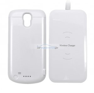 iParaAiluRy® Wireless Charger with 2600mAh Power bank case For Galaxy S4 Charge Pad + Receiver Cover