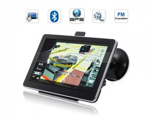 iParaAiluRy® 7 Inch HD Touchscreen GPS Navigator with bluetooth FM Transmitter and 2GB microSD card