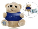 iParaAiluRy® 2600mAh Cartoon Bear Shaped Mobile Power Source Power Pack Light Brown