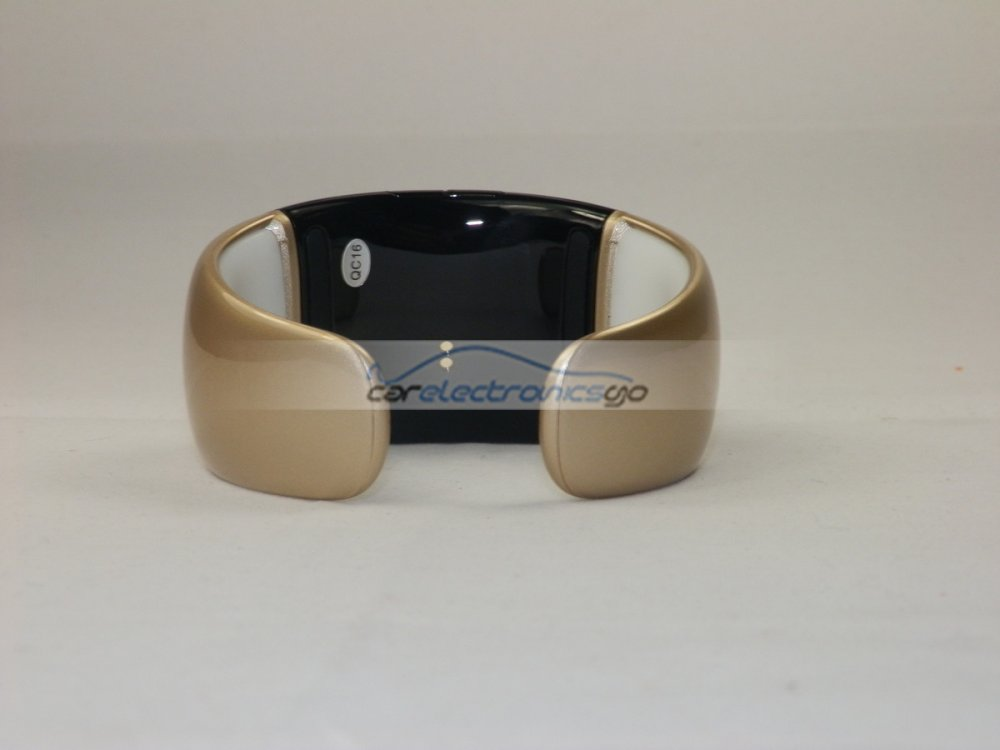 iParaAiluRy® Latest Bluetooth bracelet watch headset speaker vibration calls Gold 65mm