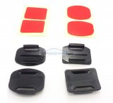 iParaAiluRy® 2x Flat Mounts & 2x Curved Mounts with adhesive pads for GoPro Hero 1 Hero 2 Hero 3