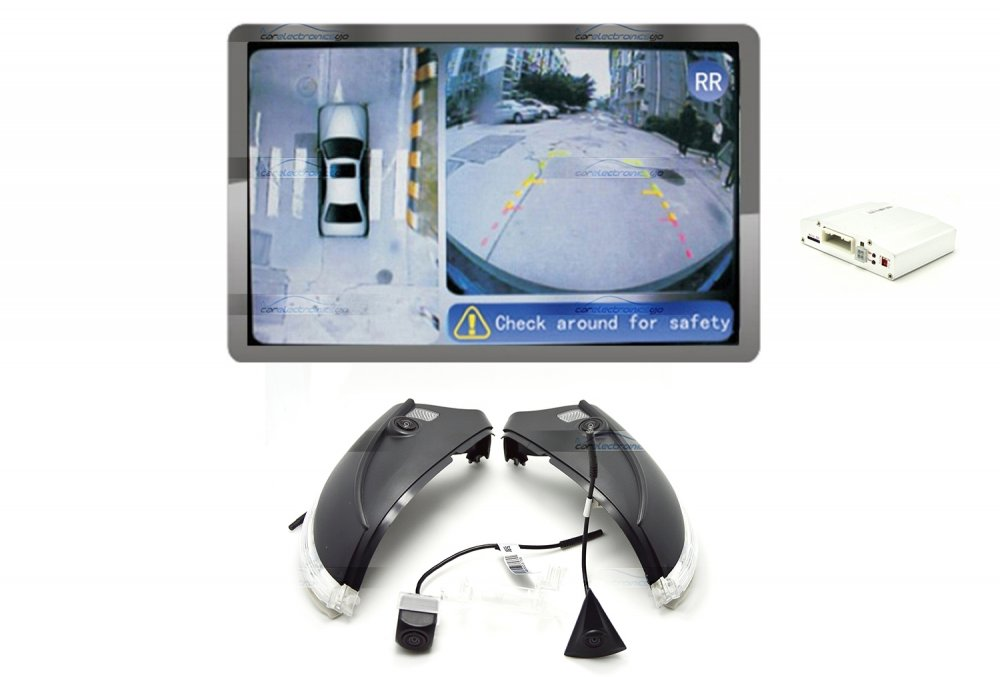 iParaAiluRy® 360 Around View Parking Assist for Volkswagen Sagitar 2013 Car with DVR function & 4 x 170 degree Cameras - Bird's-eye View Parking Aid