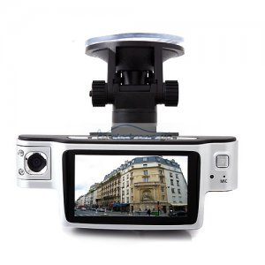 iParaAiluRy® Car DVR 720P HD Motion Detection Night Vision HDMI Dual Camera with 120 degrees Wide angle lens