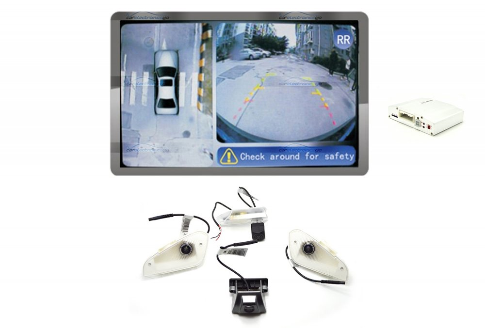 iParaAiluRy® 360 Around View Parking Assist for Lexus RX270 2012 Car with DVR function & 4 x 170 degree Cameras - Bird's-eye View Parking Aid