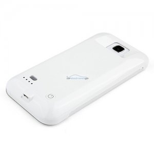 iParaAiluRy® 3300mAh External Backup Battery Case for Samsung S4 Power Pack Rechargeable White
