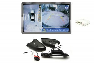 iParaAiluRy® 360 Around View Parking Assist for Mercedes-Benz ML 2014 x Car with DVR function & 4 x 170 degree Cameras - Bird's-eye View Parking Aid