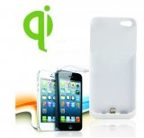iParaAiluRy® Wireless Charger Rreceiver case for iPhone 5 White/Black QI Standard