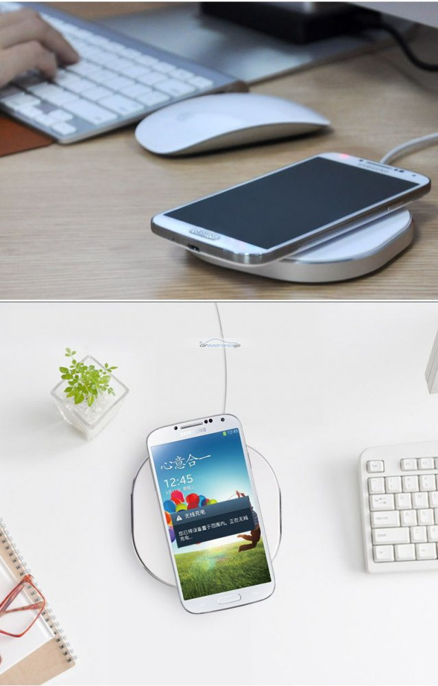 iParaAiluRy® Fashion QI Standard Wireless Charger Charging Pad For Samsung Galaxy S4 i9500 Note2 N7100 Nokia Lumia 920 White