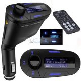 iParaAiluRy® USB Car MP3 SD Card Player with Audio FM Transmitter Remote Control Blue LCD