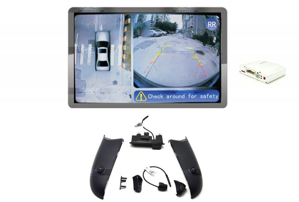 iParaAiluRy® 360 Around View Parking Assist for Audi A4 x A4L 2013 Car with DVR function & 4 x 170 degree Cameras - Bird's-eye View Parking Aid