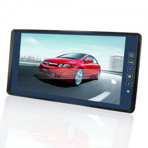 "iParaAiluRy® 9"" Car Rearview Mirror Monitor Ultra Big LCD Widescreen & Touch Button"