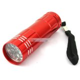 iParaAiluRy® 3W New 9 LED Lamp Torch Light Flashlight for Camping Hiking Silver Red Blue