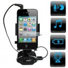 iParaAiluRy® New 4-in1 Smart Stand Car Handsfree Kit FM Transmitter for iPhone Smartphone