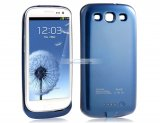 iParaAiluRy® 2600mAH Back Cover Battery for Samsung Galaxy S3 i9300 Power Pack Blue White Black