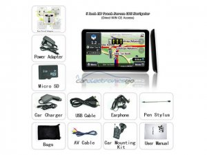 iParaAiluRy® 5 Inch HD Touch Screen GPS Navigator with Direct WIN CE Access