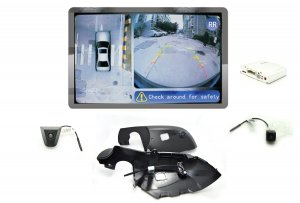 iParaAiluRy® 360 Around View Parking Assist for Honda CR-V 2013 Car with DVR function & 4 x 170 degree Cameras - Bird's-eye View Parking Aid