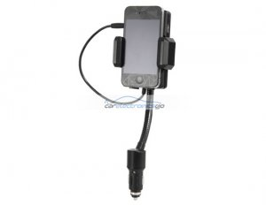 iParaAiluRy® New All-in-One Car FM transmitter Kit for iPhone, iPod, iTouch Black