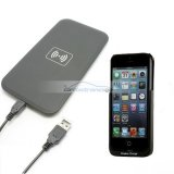 iParaAiluRy® Wireless Charger Plate Pad with Receiver Case Cover for iPhone 5 5G Black QI Standard