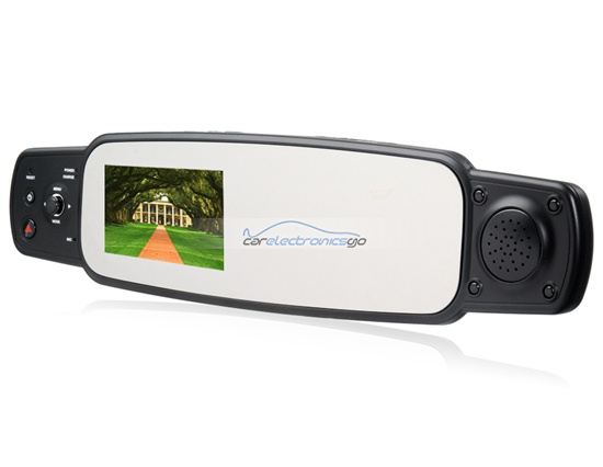 "iParaAiluRy® 3.0"" TFT Screen 1080P Rearview Mirror Vehicle Black Box DVR Sunplus Processor 4x Digital Zoom 1080P HD Infrared with Night Vision 120 Degrees Rotatable Single Lens Black"