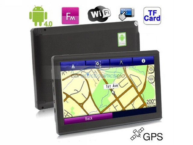 iParaAiluRy® 7.0 inch Touch Screen Android 4.0 Version GPS Navigation with 4GB Memory and Map