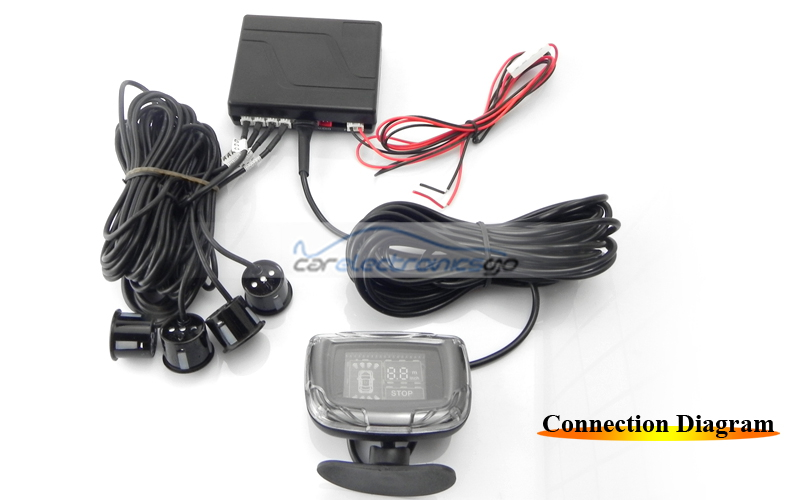 iParaAiluRy® 4 Sensors Parking Radar Sensor with VFD Display