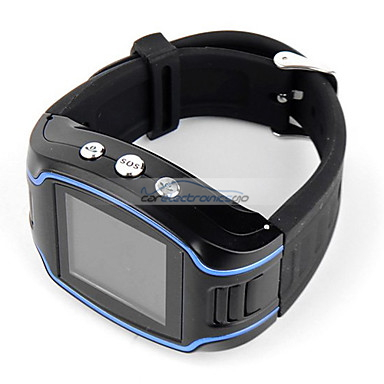 "iParaAiluRy® 1.5"" LCD Quad bands Wrist Watch GPS Tracker with Cell phone & SOS Button"