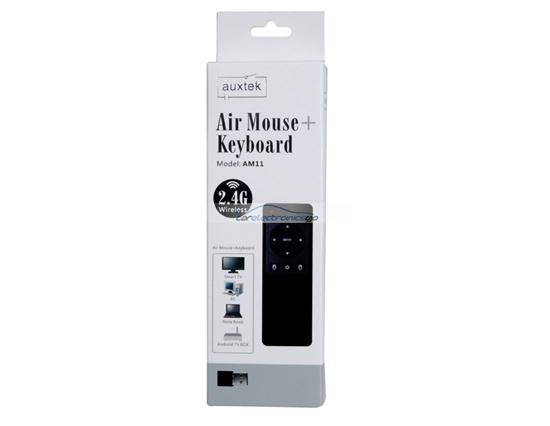 iParaAiluRy® New Auxtek AM11 2.4GHz Wireless Keyboard With Air Fly Mouse Black