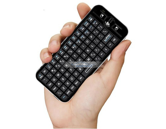 iParaAiluRy® New 2.4GHz Wireless Air Fly Mouse With Keyboard Black