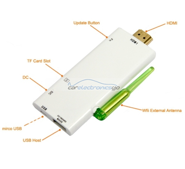 iParaAiluRy® Mini Android 4.1 PC TV Box Stick Rockchip RK3066 1.6Ghz Dual core 1G RAM 8G ROM