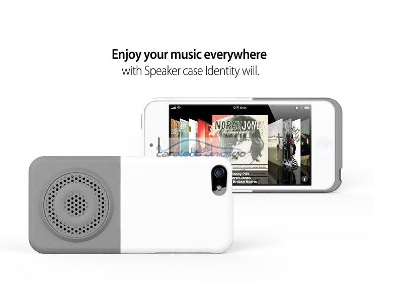 iParaAiluRy® Mini Fashion Natural Resonance Megaphone Induction Speaker For Apple iPhone5 with Mult-color