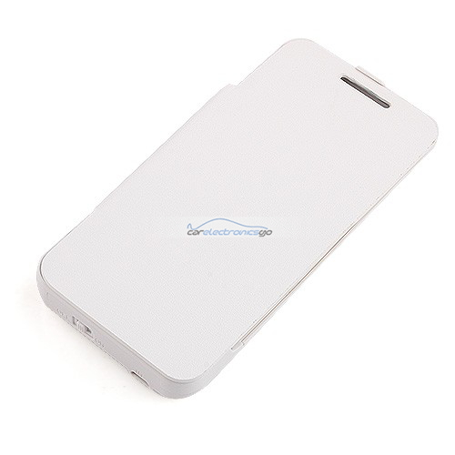 iParaAiluRy® 3800mAh External Battery Backup Case Cover Power Bank Charger Pack  For HTC M7 White