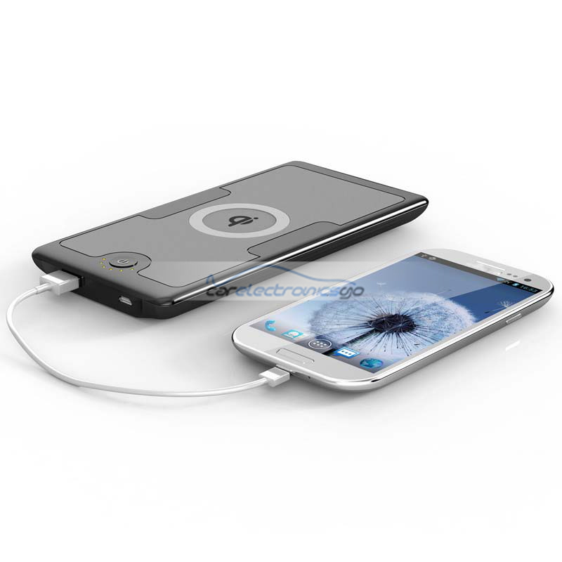 iParaAiluRy® 6000mAh Power Bank & Wireless Charger for SAMSUNG S4 S3 Note2/LG 4/ Nokia 920 All QI Cell Phones