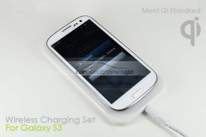 iParaAiluRy® Wireless Charging Pad & Receiver Back Case for Samsung Galaxy S3 III i9300  QI Standard