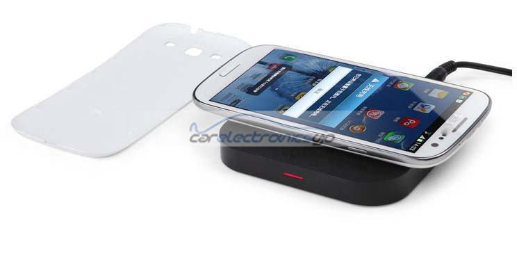 iParaAiluRy® Wireless Charger Pad with Receiver for Samsung Galaxy Note2 N7100 S3 Nokia Lumia 920/820