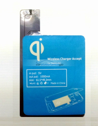 iParaAiluRy® Wireless Charger Receiver Foil Tag for Galaxy S4 i9500 i9505 QI Standard