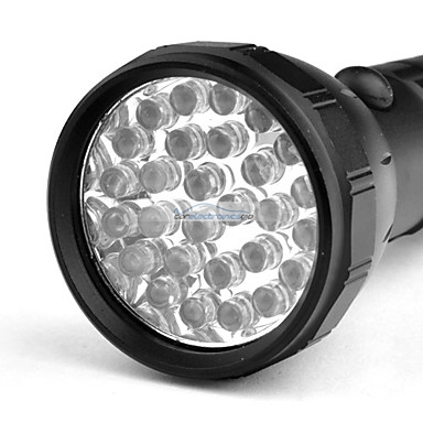 iParaAiluRy® New LED Flashlight Torch Light Black Super Bright 28
