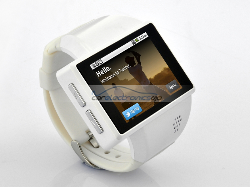 "iParaAiluRy® 2"" Android Phone Watch ""Rock"" Smart Watch with  8GB Micro SD, 2MP Camera & Quad Band"