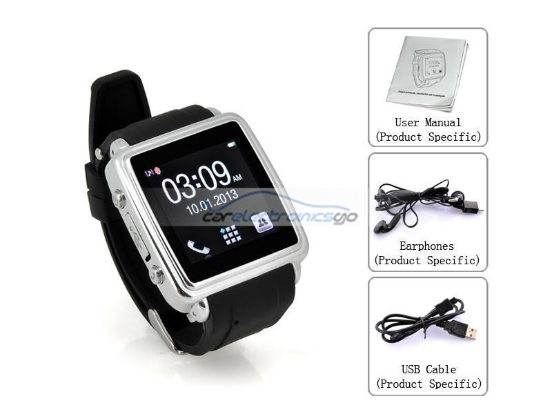 iParaAiluRy® Bluetooth Smart Watch Touch Screen SMS and Phonebook Sync, Make and Answer Calls