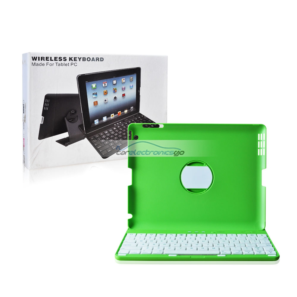 iParaAiluRy® New Ultra-thin 360 Degree Rotate Folder Protection Cover Case With Blutooth Keyboard For Apple iPad 2/3/4/Air Black Green Pink White